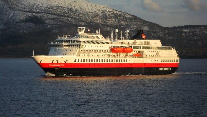 Hurtigruten's MS Finnmarken cruises in Norway.