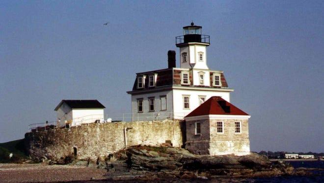 Rose Island Lighthouse in Newport Rhode Island.