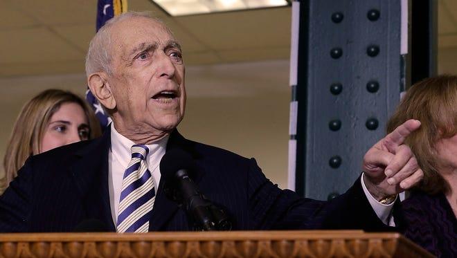 Sen. Frank Lautenberg, the oldest member of the U.S. Senate, is a New Jersey Democrat.