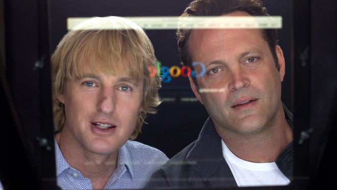 Owen Wilson, left, and Vince Vaughn star in the bland and not particularly funny 'The Internship.'