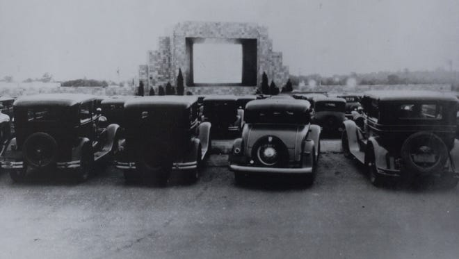 A 1933 photo of the Automobile Movie Theatre - better known as the Camden Drive-In Theatre - on Admiral Wilson Boulevard in Pennsauken, N.J.  The theater, opened by Richard M. Hollingshead Jr. on June 6, 1933, was the world's first drive-in movie theater.