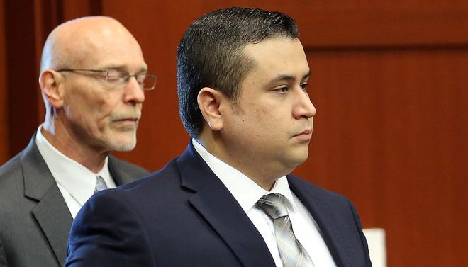 George Zimmerman arrives in court, with co-counsel Don West, on June 10 in Sanford, Fla.