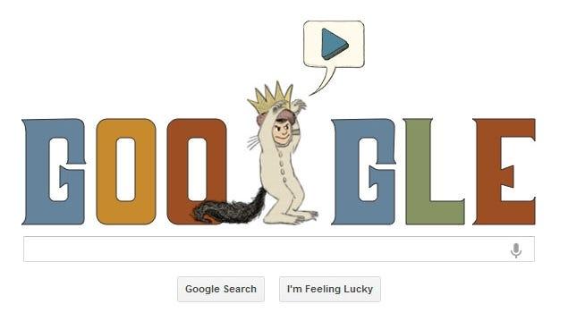 Today's Google Doodle honors children's author Maurice Sendak.