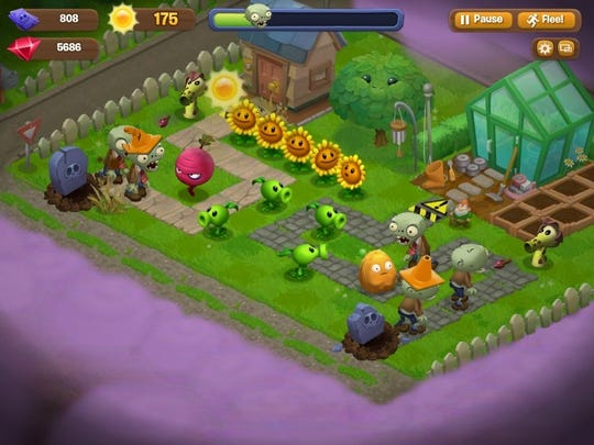 Plants vs  Zombies' invades Facebook