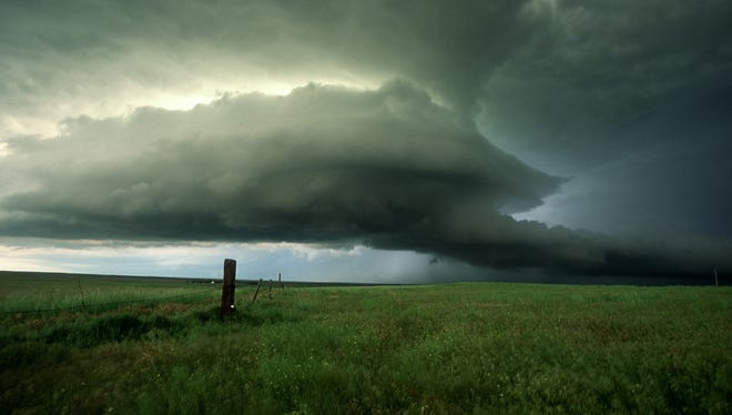 A massive supercell thunderstorm moves across northeast Colorado. The MPEX project goal is to improve forecasts of these monster storms.