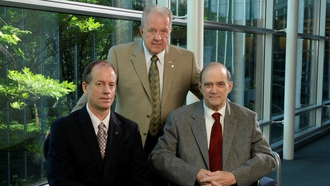 NSA whistle-blowers, from left, Thomas Drake, J. Kirk Wiebe and William Binney.