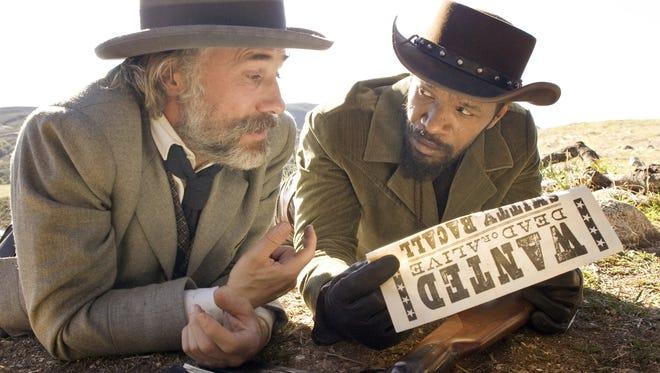 "Christoph Waltz and Jamie Foxx as bounty hunters in ""Django Unchained."""