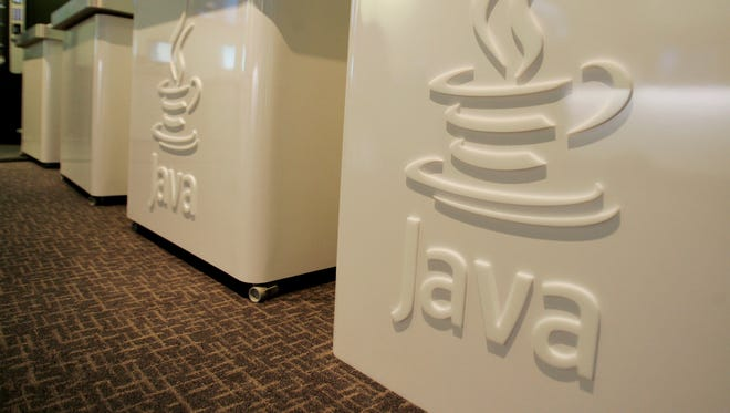 A 2007 photo of the Java logo at Sun Microsystems  in Menlo Park, Calif.