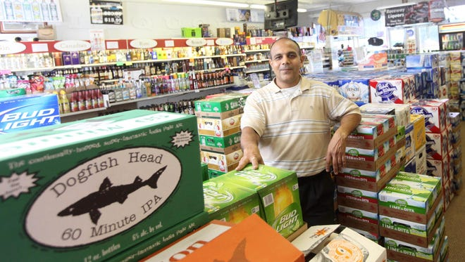 Dipak Patel, owner of Raceway Liquors in Dover, Del., stocked up on plenty of craft and domestic beer to sell to Firefly Music Festival goers.
