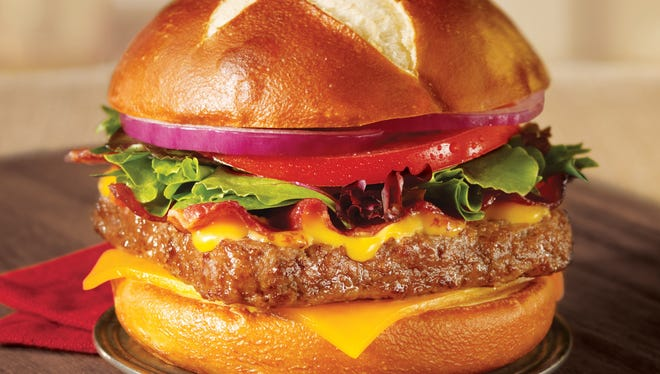 Wendy's new premium burger the Pretzel Bacon Cheeseburger will be rolled out to all stores on June 24, 2013.