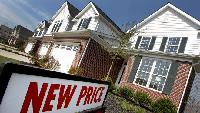 Newly-constructed homes are seen for sale in Pepper Pike, Ohio in this 2012 file photo.