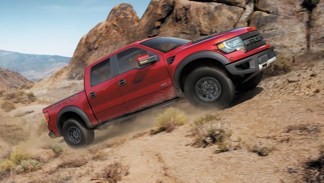 Ford Motor's F-150 pickup, made at Dearborn, Mich., is  the most 'American-made' vehicle in Cars.com's 2013 index. Shown is a 2014 F-150 SVT Raptor Special Edition,