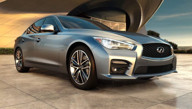 Inifiniti's nicely redesigned 2014 Q50 sedan -- the model formerly known as the G37 sedan -- goes on sale in the U.S. July at a slightly lower price than the outgoing.