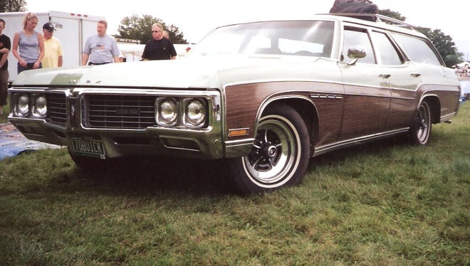 """A 1970 Buick Estate station wagon just like this one with faux wood in the Buick spear shape and a way way back third row inspired the new Steve Carell comedy """"The Way Way Back."""""""