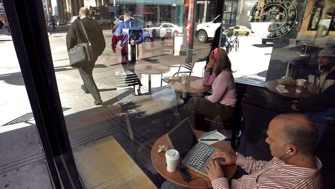 A customer at a Starbucks.