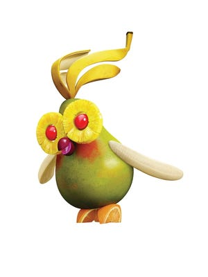 The Fruit Cockatiel from 'Cloudy 2'