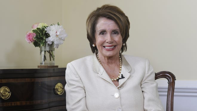 House Minority Leader Nancy Pelosi is interviewed in her Washington office on June 27.