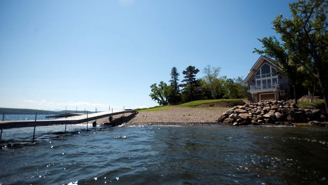 Fish Bladder Island is a 10 acre island for sale on Lake Champlain in South Hero, Vt.