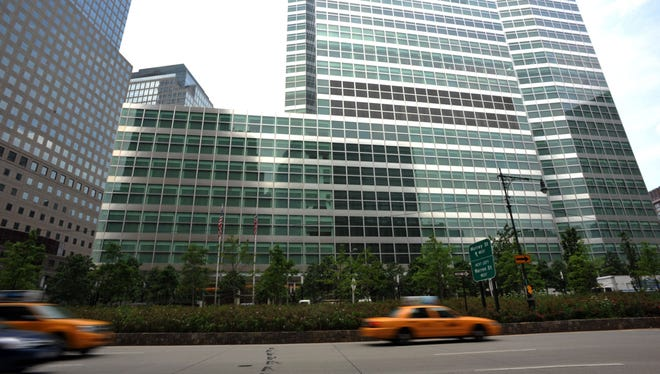 This 2010 file photo shows the headquarters of investment banking and securities firm Goldman Sachs in lower Manhattan, in New York.  The European Commission said on July 1, 2013 it suspected 13 top investment banks including Citigroup, Deutsche Bank and Goldman Sachs, colluded to defend their profits from derivatives trading in breach of EU antitrust rules.