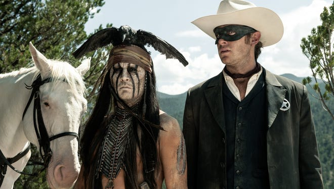 Johnny Depp, left, and Armie Hammer clocked some serious hours in the American Southwest during the 150-day shoot for 'The Lone Ranger.'
