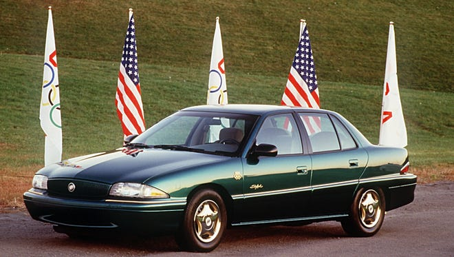 The U.S.  Olympic edition of the 1996 Buick Skylark like the one John Ulczycki's teens had to drive after their grandmother was done with it.