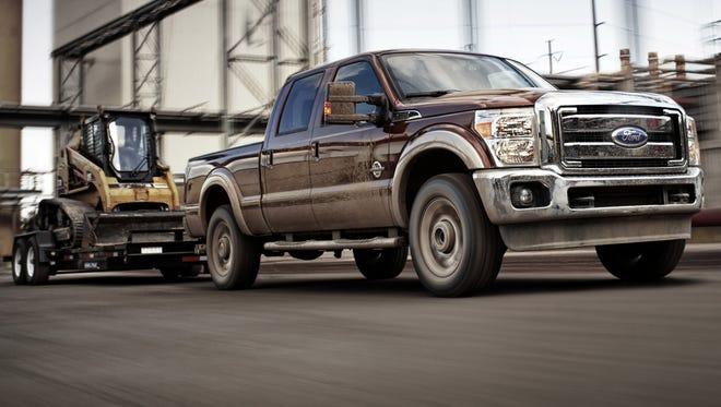 Car thieves No. 1 target among 2010 to 2012 vehicles is this Ford F-250 Super Duty crew cab with four-wheel drive (a 2011 is shown here).