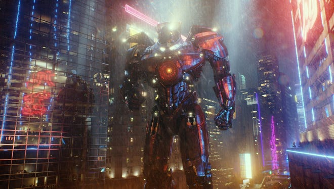 The creation of the 250-foot tall robot warrior Gipsy Danger was just one of several monster-size challenges for the special effects wizards behind 'Pacific Rim'