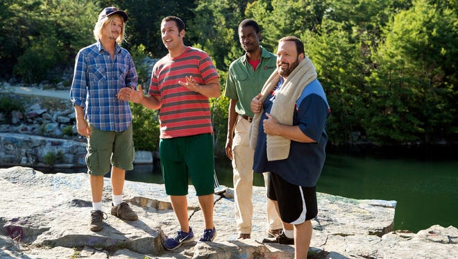 David Spade, left, Adam Sandler , Chris Rock and Kevin James reunite for 'Grown Ups 2.'