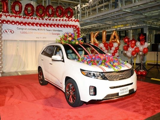 Kia Builds Millionth Car At West Point Ga