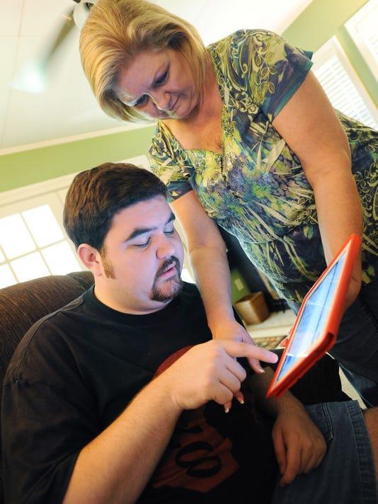 Autistic man breaks through the silence