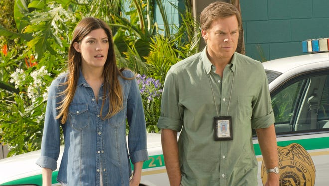 Dexter (Michael C. Hall), right, and Deb (Jennifer Carpenter) were on the outs as the final season got under way.