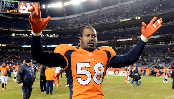 Denver Broncos outside linebacker Von Miller.