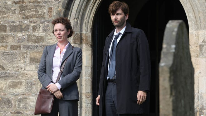 Olivia Colman plays Detective Sergeant Ellie Miller, assisting a newly minted chief inspector (David Tennant).