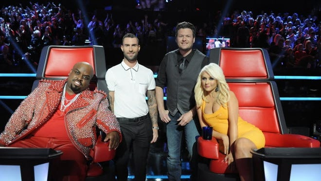 They're back: The original 'Voice' judges -- Cee Lo Green, Adam Levine, Blake Shelton and Christina Aguilera -- are together again for Season 5.