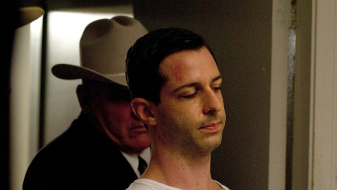 "Jeremy Strong as Lee Harvey Oswald in ""Parkland."""