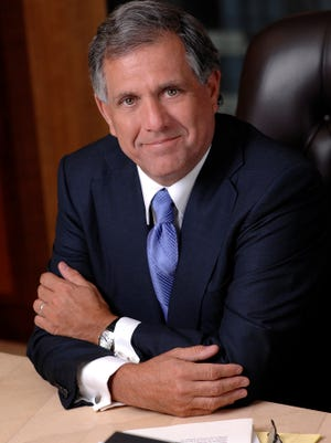 CBS chief Leslie Moonves appeared before TV critics Monday.