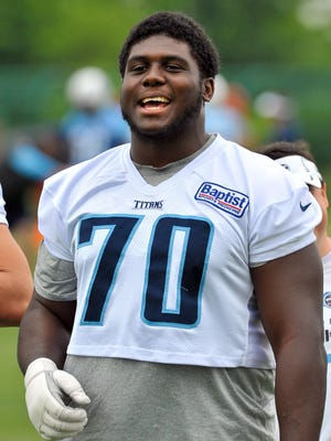 Tennessee Titans guard Chance Warmack.
