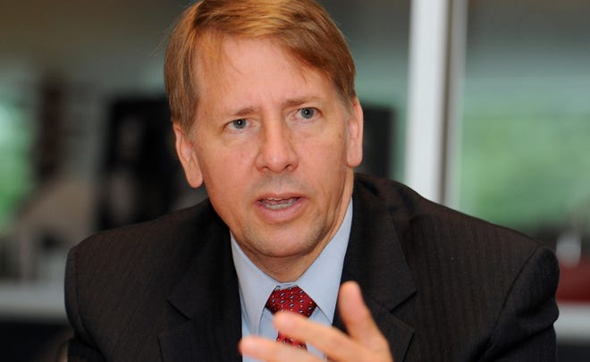 Richard Cordray, head of the Consumer Financial Protection Bureau, speaks with the USA TODAY Editorial Board on Aug. 1.