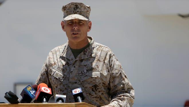 Marine Gen. John Kelly is a popular speaker.