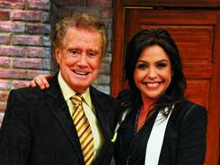 Starting Monday, Rachael Ray and Regis Philbin will share the chef's talk-show set occasionally.