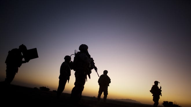 U.S. soldiers on patrol in Afghanistan, near the border with Pakistan.