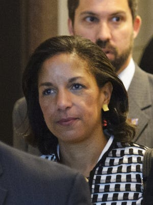 The U.S. ambassador to the United Nations, Susan Rice, on Capitol Hill on Wednesday.