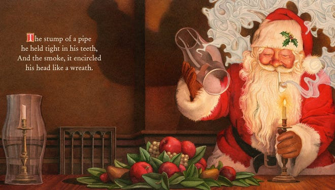"""Illustration from """"Twas the Night Before Christmas."""""""