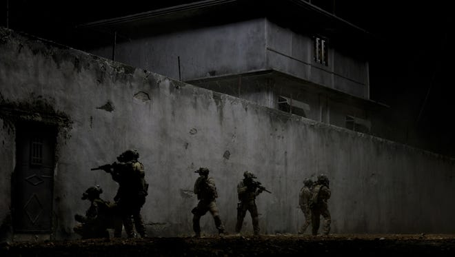 "Navy SEALs hunt for Osama Bin Laden in ""Zero Dark Thirty."" The film is estimated to have collected $24 million last weekend."