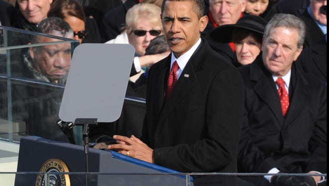The 2009 inauguration of President Obama.