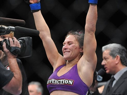 Zingano on Cat Zingano Reacts After Beating Miesha Tate During The Tuf 17 Finale