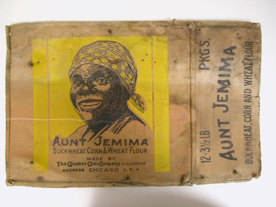 One rendition of Nancy Green's portrait as Aunt Jemima. Quaker Oats bought the brand in 1926.
