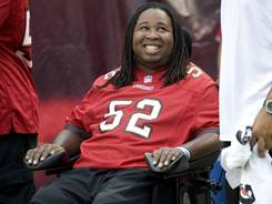 Eric LeGrand credits the upbeat environment insisted on his by his mother for the progess of the recovery from his injury in 2010.