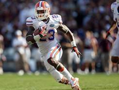Florida running back Mike Gillislee heads to the end zone for a touchdown against Texas A&M.