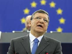 President of the European Commission Jose Manuel Barroso at the European Parliament in Strasbourg, France, on Sept. 12, 2012.